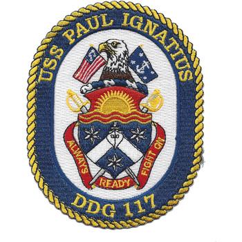 USS Paul Ignatius DDG 117 Patch