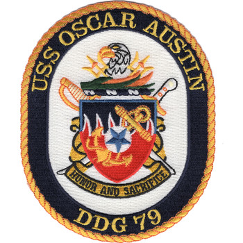 USS Oscar Austin DDG-79 Guided Missile Destroyer Patch