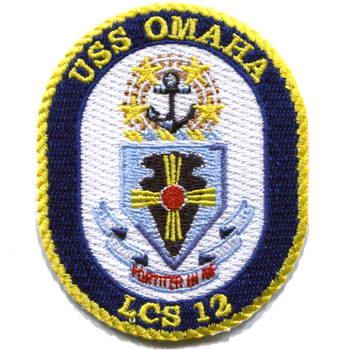 USS Omaha LCS 12 Littoral Combat Ship Samll Patch