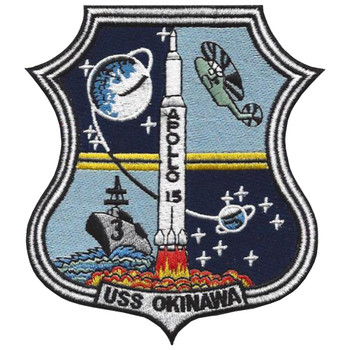 USS Okinawa LPH-3 Apollo 15 Patch