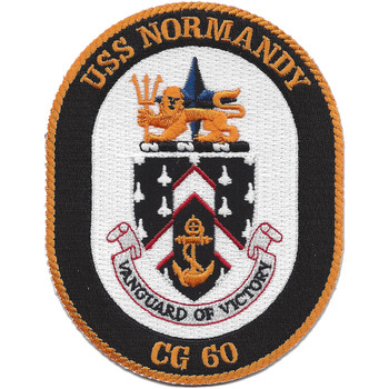 USS Normandy CG-60 Guided Missile Cruiser Patch