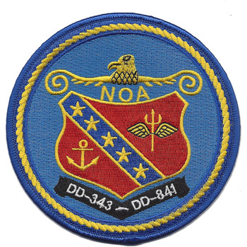 USS Noa DD-841 Destroyer Ship Patch
