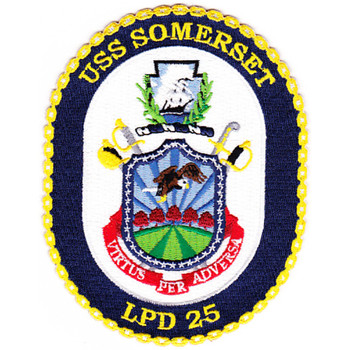 USS Somerset LPD 25 Amphibious Transport Dock Ship Patch