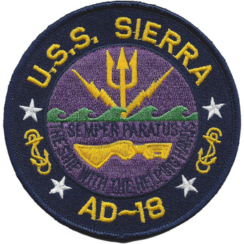 USS Sierra AD-18 Destroyer Tender Ship Patch