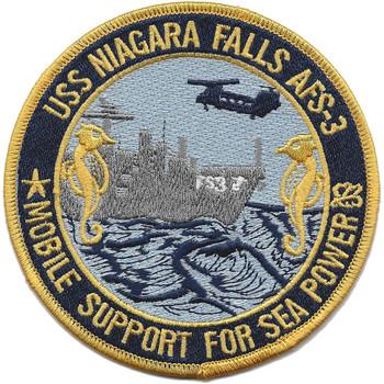 USS Niagara Falls AFS-3 Combat Stores Ship Patch