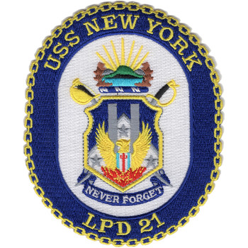 USS New York LPD-21 Amphibious Transport Dock Patch