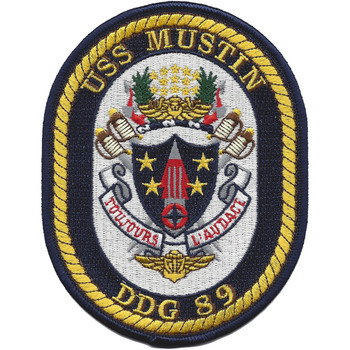 USS Mustin DDG-89 Guided Missile Destroyer Patch