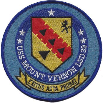 USS Mount Vernon LSD-39 Dock Landing Ship Patch