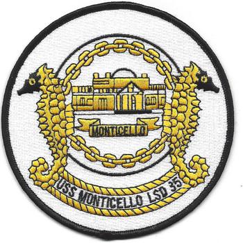 USS Monticello LSD-35 Amphibious Ship Patch