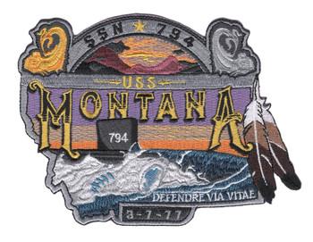 USS Montana SSN-794 Patch