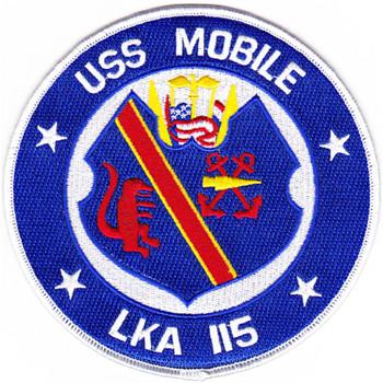 USS Mobile LKA-115 Amphibious Cargo Ship Patch