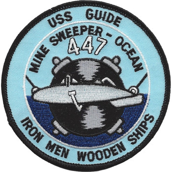 USS Guide MSO-447 Mine Sweeper - Ocean Ship Patch