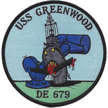 USS Greenwood DE-679 Path