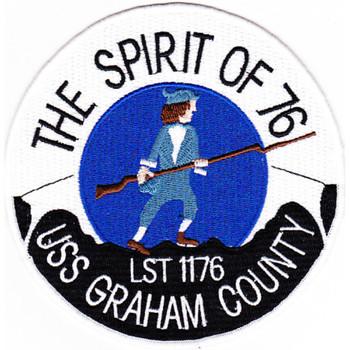 USS Graham County LST-1176 Tank Landing Ship Patch