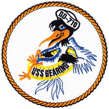 USS Gearing DD-710 Destroyer Ship Patch