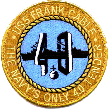 USS Frank Cable AS-40 Auxiliary Submarine Repair Ship A Version Patch