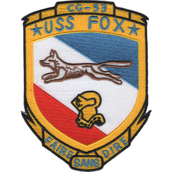 USS Fox CG-33 Patch