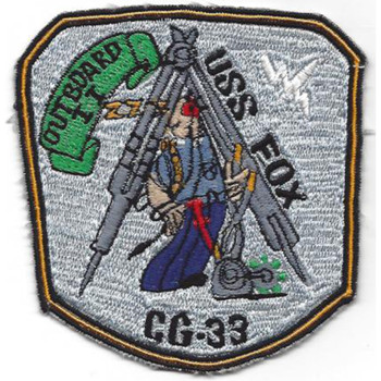 USS Fox CG-33 Guided Missile Heavy Cruiser Ship Patch
