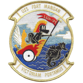 USS Fort Mandan LSD-21 Dock Landing Ship Patch