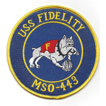 USS Fidelity MSO-443 Minesweeper Ship Patch