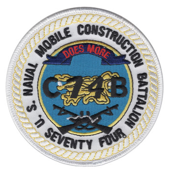 74th Naval Mobile Construction Battalion Patch C74B