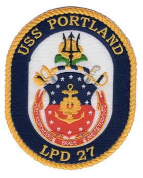 USS Portland LPD 27 Amphibious Transport Dock Ship Patch