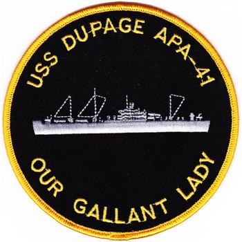 USS Dupage APA-41 Amphibious Patch