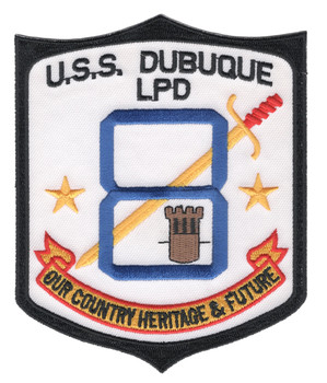 USS Dubuque LPD-8 Transport Dock Ship Patch
