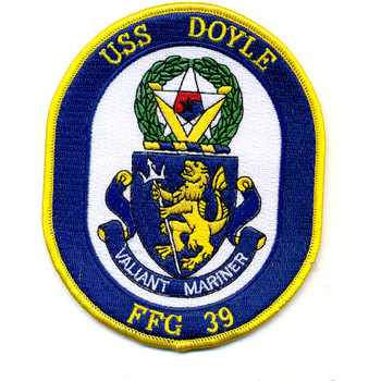 USS Doyle FFG-39 Frigate Ship Patch