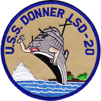USS Donner LSD-20 Dock Landing Ship Patch