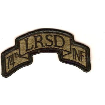 74th Long Range Surveillance Detachment OD Green Scroll Patch