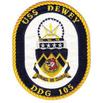 USS Dewey DDG-105 Guided Missile Destroyer Patch