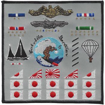 USS Cabrilla SS-288 Battle Flag Patch