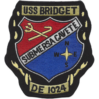USS Bridget DE 1024 Destroyer Escort Ship Patch