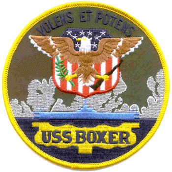 USS Boxer LPH-4 Amphibious Assault Ship Patch