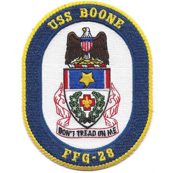 U.S.S. Boone FFG-28 Frigate Ship M.O.H. Patch