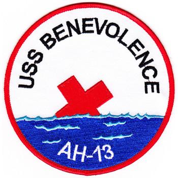 USS Benevolence AH-13 Hospital Ship Patch