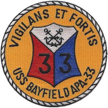 USS Bayfield APA-33 Attack Transport Ship Patch
