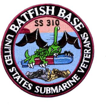 USS Batfish Veterans Base Patch