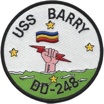 USS Barry DD-248 Patch