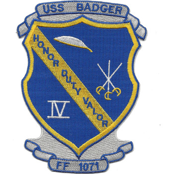 USS Badger FF-1071 Knox Class Frigate Patch
