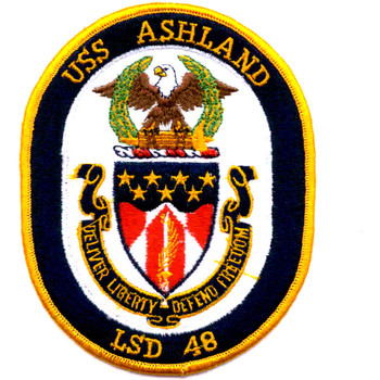 USS Ashland LSD-48 Dock Landing Ship Patch