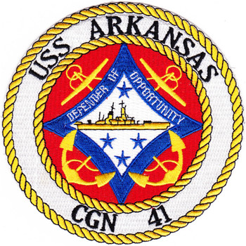 USS Arkansas CGN-41 Patch