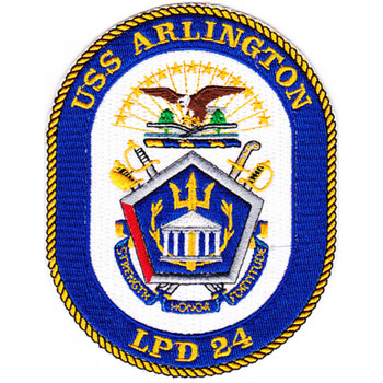 USS Arlington LPD-24 Amphibious Transport Dock Patch