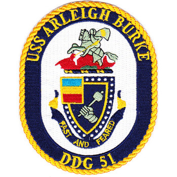 USS Arleigh Burke DDG-51 Guided Missile Destroyer Ship Patch