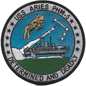 USS Aries PHM-5 Patrol Combatant Missile Hydrofoil Patch
