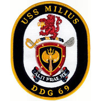 USS Milius DDG-69 Guided Missile Destroyer Patch