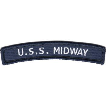 USS Midway Rocker Patch