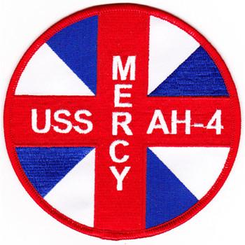 USS Mercy AH-4 Hospital Ship Patch