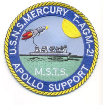 USS Mercury T-AGM-21 Missile Range Instrumentation Ship Patch